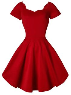 $13 Valentines Day Dress Vintage Style Scoop Neck Short Sleeve Black Ball Gown Dress For Women