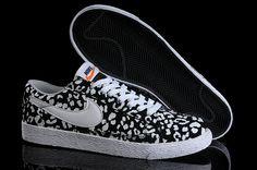 Nike Blazer Basse In Leopardo Bianco Nero Scarpe Da Donna