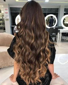 Ideas hair brown highlights blunt cuts Best Picture For Hairstyle for school curly For You Bronde Hair, Brown Hair Balayage, Brown Ombre Hair, Long Brown Hair, Light Brown Hair, Brown Hair Colors, Hair Highlights, Dark Hair, Brown Highlights