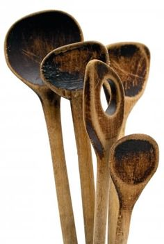 They stirred a lot of pots..... love old wooden spoons!