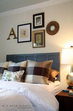Image result for decorating over headboard