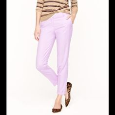 COLLECTION CAFÉ CAPRI IN ICED LILAC These pants are such a beautiful color! The second picture is a more accurate reference of the color of the pants. Introducing our wildly flattering wool café capri—now your favorite perfect-fitting pant can be worn all year long. Crafted in lightweight wool and a collection of can't-miss colors, it's the one piece you'll need to anchor your wardrobe for fall (and beyond) NWOT  True to size City fit Sits just above hip Fitted through hip and thigh, with a…