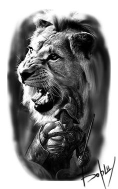 Design of tattoo lion – Tattoo 2020 Tattoo Sketches, Tattoo Drawings, Body Art Tattoos, Sleeve Tattoos, Gladiator Tattoo, Lion Tattoo Design, Tattoo Designs, Lion Design, Tattoo Guerreiro