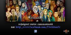 Rejoignez les fans de Civilized sur Facebook ! Un petit bouton en haut à droite de la page vous y emmène directement :)  #heroicfantasy #epicfantasy