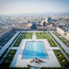 Naqsh-e Jahan Square formerly known as Shah Square, is a square situated at the center of Isfahan . Constructed between 1598 and 1629, it is now an important historical site, and one of UNESCO's World Heritage Sites. Location: Isfahan - #Iran
