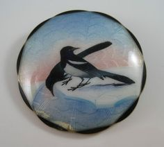 ENAMEL BIRD STERLING SILVER PIN Hjortdahl?