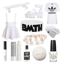 """Untitled #377"" by emo-sweetheart ❤ liked on Polyvore featuring Seletti, adidas Originals, OPI, Kurt Geiger, Korres and NARS Cosmetics"