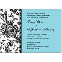 Modern Toile Wedding Invitation @ http://www.fresnoweddings.net/candy.html?m=product=035301