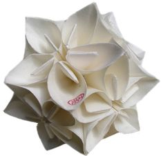 Rice paper flower ornament by K