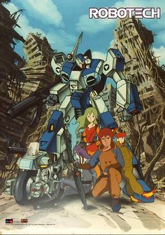 """#Robotech """"New Generation Ruins"""" Wallscroll 16x22"""" PREORDER http://robotechstore.myshopify.com/products/new-generation-ruins-wallscroll-16x22-preorder… #anime"""