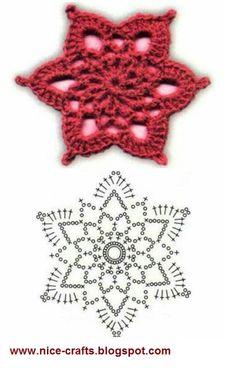 Wonderful DIY Crochet Snowflakes With Pattern - Her Crochet Crochet Star Patterns, Crochet Snowflake Pattern, Crochet Stars, Crochet Snowflakes, Crochet Designs, Knitting Patterns, Crochet Diagram, Crochet Motif, Crochet Doilies