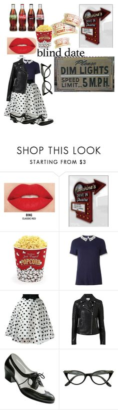 """""""Blind Date: 1950's Drive-in Movie Theatre"""" by candy-n-k ❤ liked on Polyvore featuring Smashbox, West Bend, Dorothy Perkins, Witchery and ZeroUV"""
