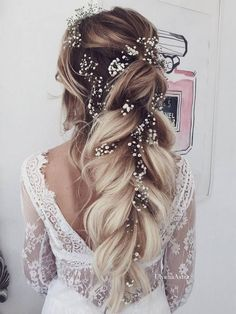 Wunderschöne Braut Hochzeit Frisuren langes Haar wird inspirieren Gorgeous bridal wedding hairstyles will inspire long hair inspire Wedding Hairstyles For Long Hair, Loose Hairstyles, Wedding Hair And Makeup, Bride Hairstyles, Romantic Hairstyles, Gorgeous Hairstyles, Hair Makeup, Wedding Half Updo, Romantic Wedding Hair