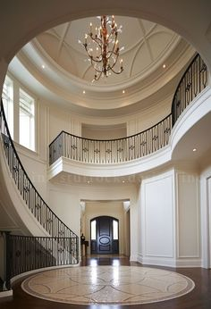Modern Staircase Design Ideas - Stairways are so common that you don't provide a doubt. Look into best 10 instances of modern staircase that are as sensational as they are . Luxury Staircase, Staircase Railings, Modern Staircase, Stairways, Railing Design, Staircase Design, Escalier Design, Modern Entrance, House Stairs
