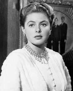 "The very beautiful, Ingrid Bergman as Alicia Huberman-""Notorious"" (1946)"