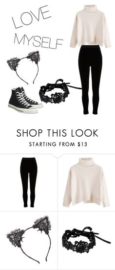 """""""Love Me"""" by uniuni2223 ❤ liked on Polyvore featuring River Island, True Craft, Amrita Singh and Converse"""