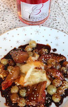 Foie de lotte sauce teriyaki au raisin de Moissac