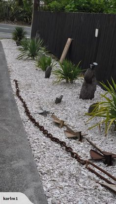 Detail of crushed shell substrate timber pathway edging for Crushed oyster shells for landscaping