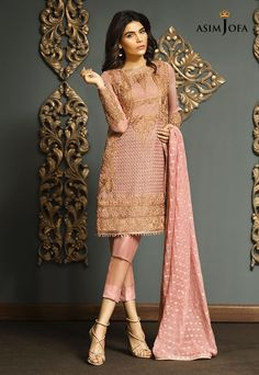 Pakistani Fancy Dresses Asim Jofa Mysorie Chiffon Collection consists of women best embroidered luxury suits, perfect for eid, weddings, parties, Pakistani Fancy Dresses, Pakistani Dresses Online, Pakistani Bridal Wear, Pakistani Outfits, Indian Dresses, Eid Dresses, Pakistani Clothing, Wedding Dresses, Wedding Wear