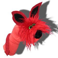 Furry Red Monster Sockett®Sock Puppet