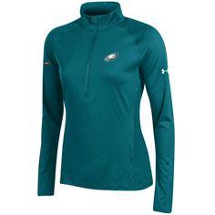 Philadelphia Eagles Under Armour Women's NFL Combine Authentic Tech Half-Zip Sweatshirt - Green - $54.99