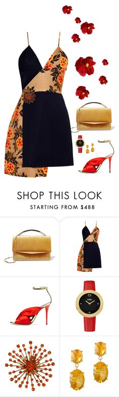 """Untitled #1046"" by loveraige ❤ liked on Polyvore featuring Eddie Borgo, MSGM, Oscar de la Renta and Fendi"