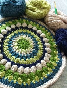 simplypenny; crochet mandala. Make this bigger and it could be a rug