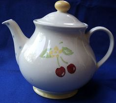 Laura Ashley Morello 6 Cup Tea Pot Teapot Cherry Cherries ❤ ❤ ❤