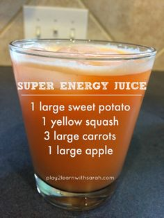 Super Energy Juice - this easy juice recipe is the secret to lasting energy. This is The best afternoon pick me up snack.