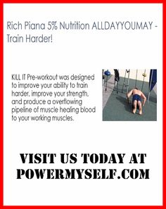 Visit us at http://www.powermyself.com/type/pre-workout and http://www.powermyself.com/rich-piana-5-nutrition-alldayyoumay.html Find the correct pre workout supplements for your specific preference and goals. Examine reviews on the internet to get the best health, performance-boosting, weight reduction, fat gain, and pre workout supplements.