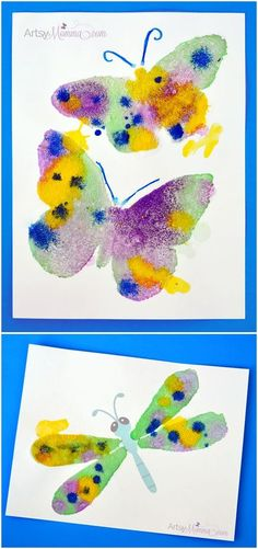 Process Art: The Magic of Salt Painting! - Artsy Momma - http://www.oroscopointernazionaleblog.com/process-art-the-magic-of-salt-painting-artsy-momma/