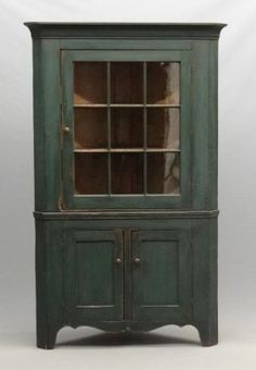 Corner Cupboard : Lot 151 which had a newer paint. Sold for 2000 plus BP Furniture, Corner Cupboard, Cupboard, Painted Furniture, Primitive Furniture, Country Furniture, Redo Furniture, Colonial Decor, Southern Furniture