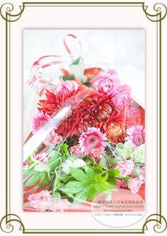 JFLA Bridal(Fresh Flower)Diploma class.Wrapping Idea.ブライダルデザイン(フレッシュフラワー)認定資格取得クラス。ラッピングまで細かく学びます。
