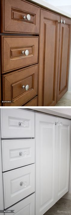 Kitchens on pinterest kitchen cabinets cabinets and how for Can you use kitchen cabinets in the bathroom