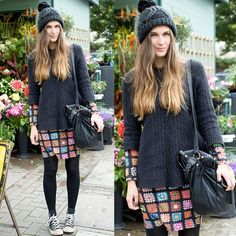 dress and sweater look All Star, Street Chic, Street Style, Ideias Fashion, Moda Fashion, Sweaters, Inspiration, Converse, Dresses