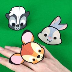 Bambi and his friends are cute, but they've never looked cuter than they do on these cutie rings. They make the perfect accessory for any little Bambi fan!