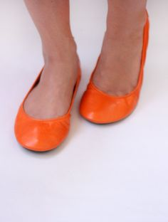 Citrus - Handmade Leather ballet flat shoes -  CUSTOM FIT. $90.00, via Etsy.