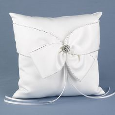Sparkling Sash Ring Pillow Wedding Ring Cushion, Cushion Ring, Wedding Pillows, Ring Bearer Pillows, Ring Pillows, Wedding Sash, Wedding Rings, Wedding Ceremony, Wedding Favors Unlimited