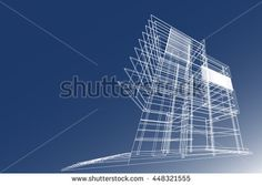 building structure abstract, 3d illustration