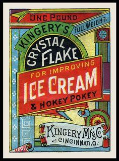 Kingery Manufacturing Company / Kingery's Crystal Flake   Sheaff : ephemera