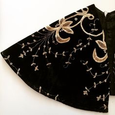 Late Victorian/early Edwardian black velvet shoulder cape with lace embroidery- inspiring bridal ideas #vintage #inspiration #bride #weddingday #wedding #embroidery #Bridal #taradeighton #weddingday #bespoke #Hastings