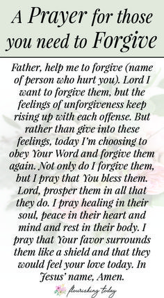 Bible Verses About Faith:Do you need to forgive someone who has hurt you repeatedly? Perhaps your tired of forgiving. Here are a few biblical truths to learn to walk in God's truth on forgiveness and forgive those people who hurt your feelings. Forgiveness Scriptures, Prayer Verses, Bible Prayers, Faith Prayer, God Prayer, Catholic Prayers, Prayer Quotes, Spiritual Quotes, Forgiveness Prayer