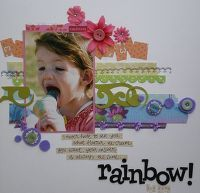 Gallery Projects - Scrapbooking - rainbow - Two Peas in a Bucket