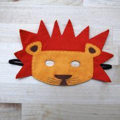 Globers Máscaras de animales en fieltro para niños. León. Cumpleaños y fiestas. Cool parties. Animals felt masks. Kids. Lion