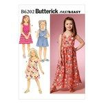 Butterick Patterns B6202 Fast and Easy Childrens/Girls Dress