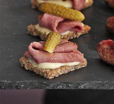 Salt beef on rye bread with mustard sauce recipe - Recipes - BBC Good Food