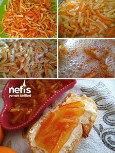 Orange Peel Jam (Recipe with Guaranteed Warranty) - Delicious Recipes - reçel Jam Recipes, Snack Recipes, Snacks, Sweet Crepes Recipe, Creamed Cabbage, Turkish Recipes, Ethnic Recipes, Homemade Soft Pretzels, Good Food