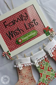 Hobby di stoffa by Hdc: La nostra Family Wish List! Christmas Stockings, Christmas Holidays, Christmas Ideas, Family Wishes, Merry And Bright, Card Making, Wall Decor, Holiday Decor, Cards