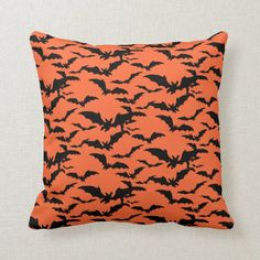 Shop Halloween Bats Pillow created by photographybydebbie. Halloween Pillows, Halloween Bats, Halloween Shirt, Halloween Cosplay, Vintage Halloween, Halloween Decorations, Halloween Ideas, Halloween Costumes, Black Bat