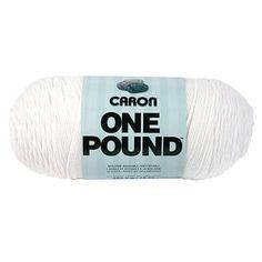 One Pound Yarn-White - White